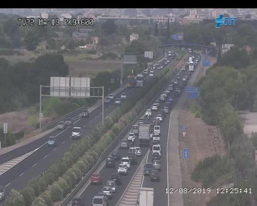 Traffic jam at El Molinar